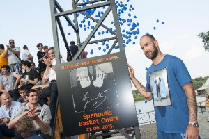 Spanoulis opened court in Belgrade.Charity 3-points shooting contest of BeoBasket Stars
